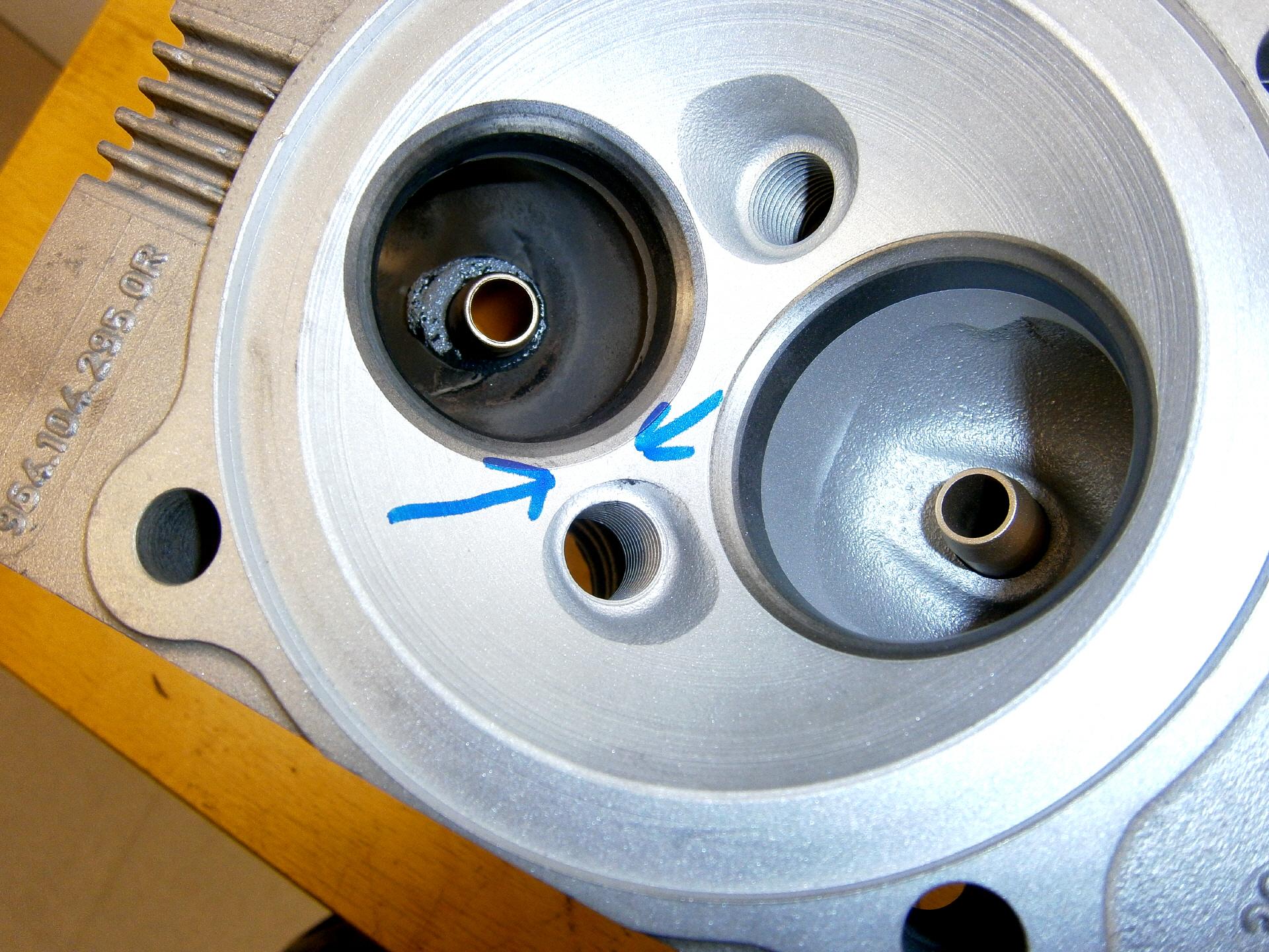 Porsche Zylinderkopf Haarriss